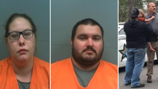 Parents arrested after 4-year-old child found trapped in Franklin County woods
