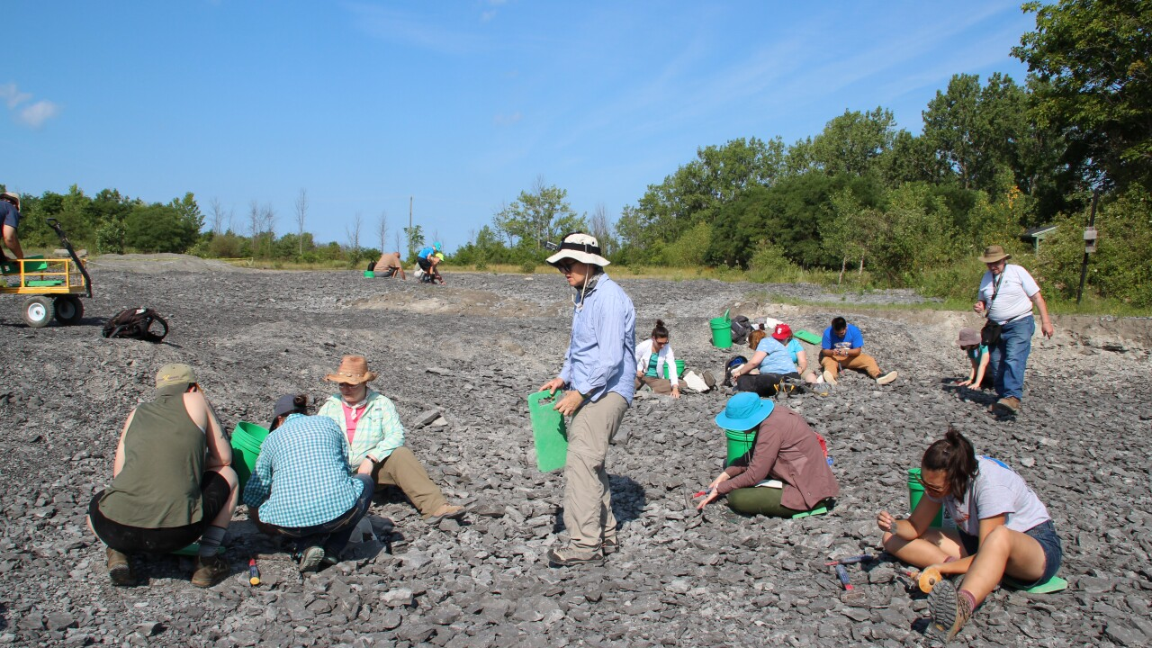 Group of New York City teachers visit Penn Dixie Fossil Park to dig for fossils and engage students