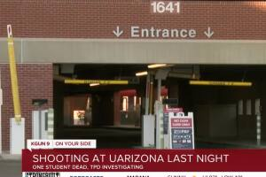 UA student found shot in parking garage near Cherry Avenue