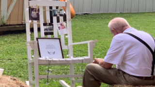 This Grandpa Ate A Meal Next To A Memorial For His Late Wife