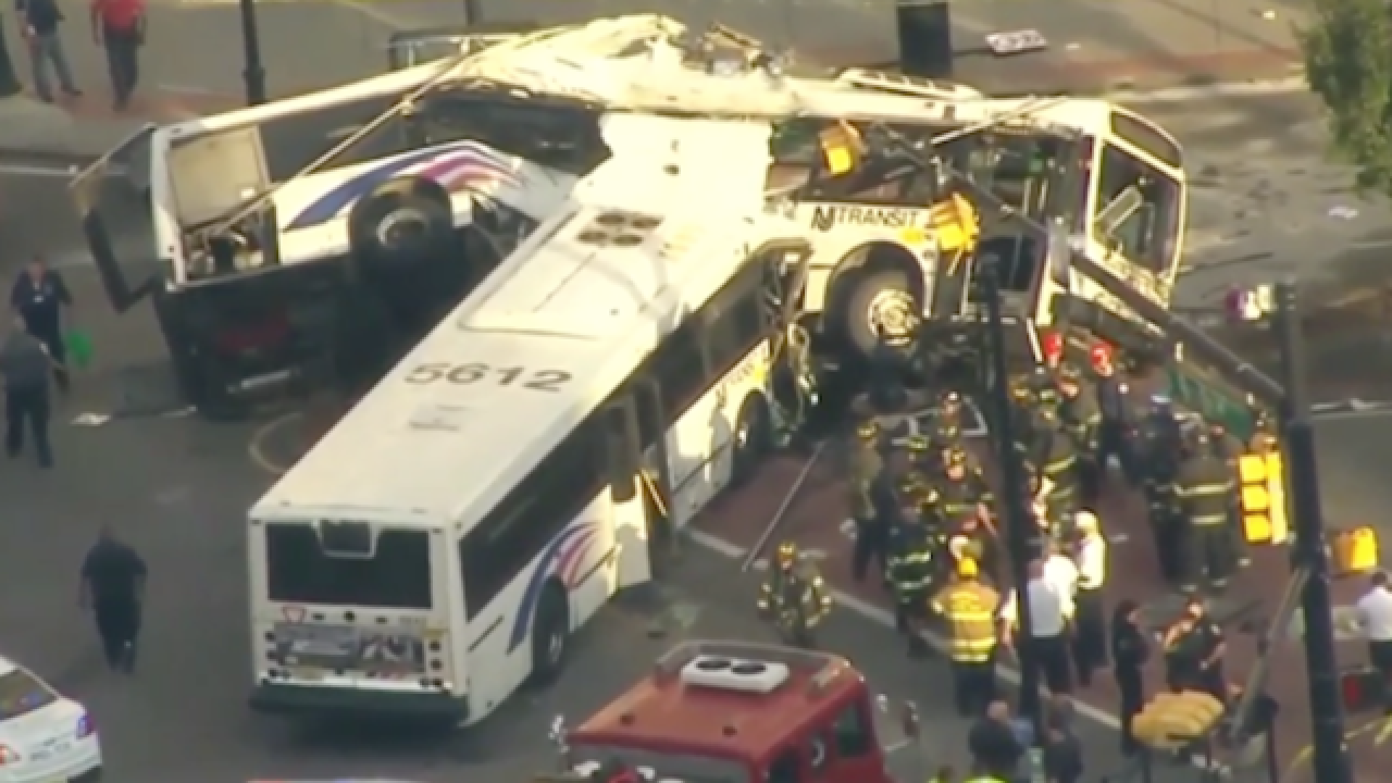 Injuries mount after 2 buses collide in New Jersey