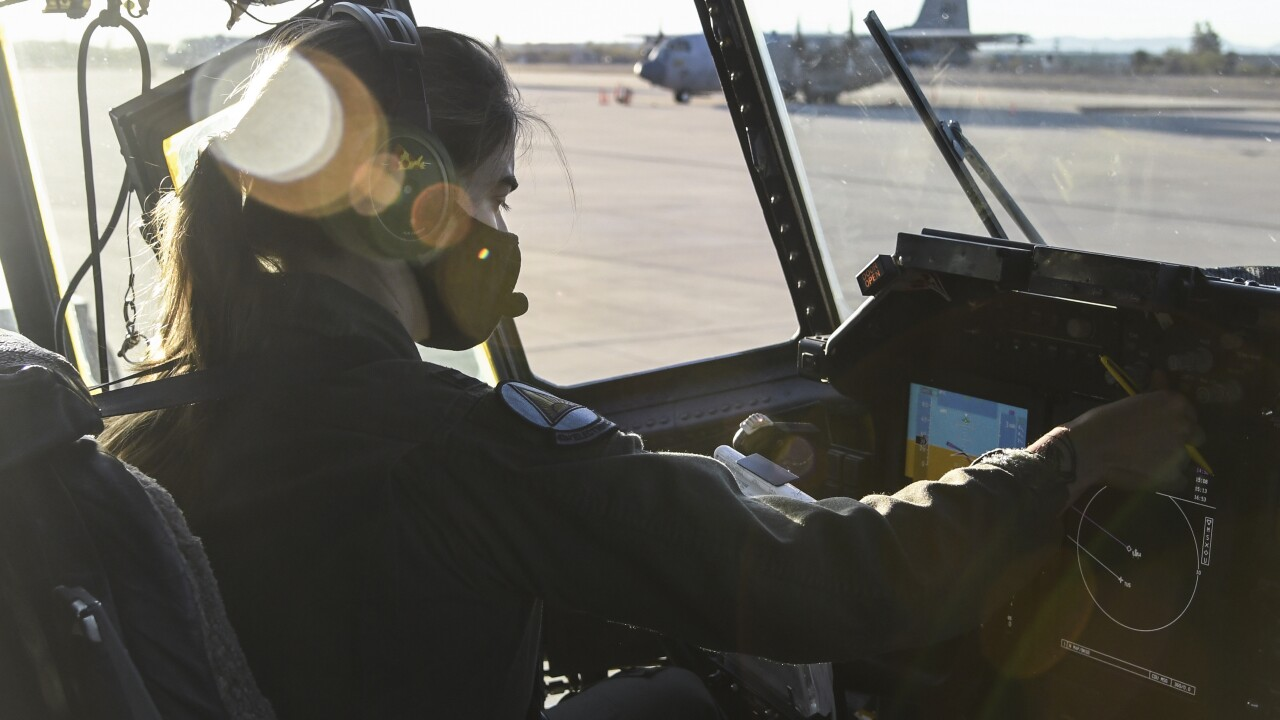 The 55th Electronic Combat Group took launched its first all-female flight.