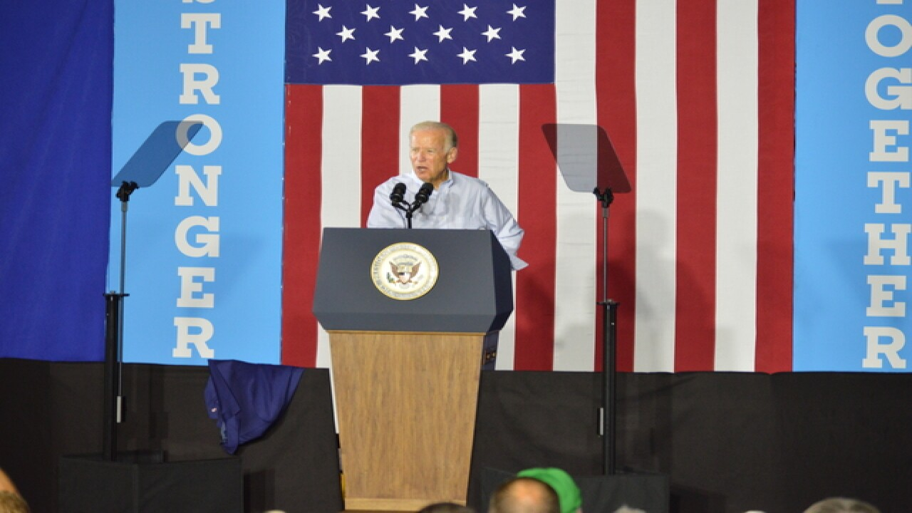 PHOTOS: Joe Biden campaigns for Hillary in CLE