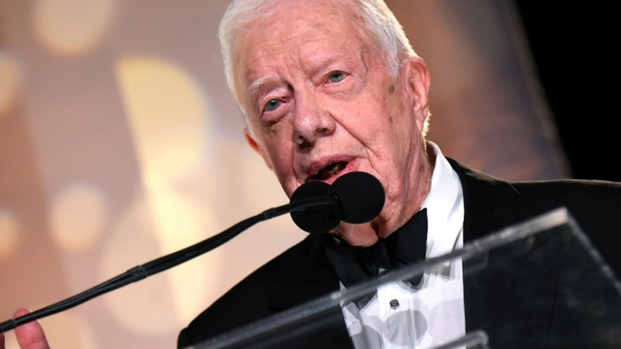 Jimmy Carter, cancer-free, crusades against Guinea worm