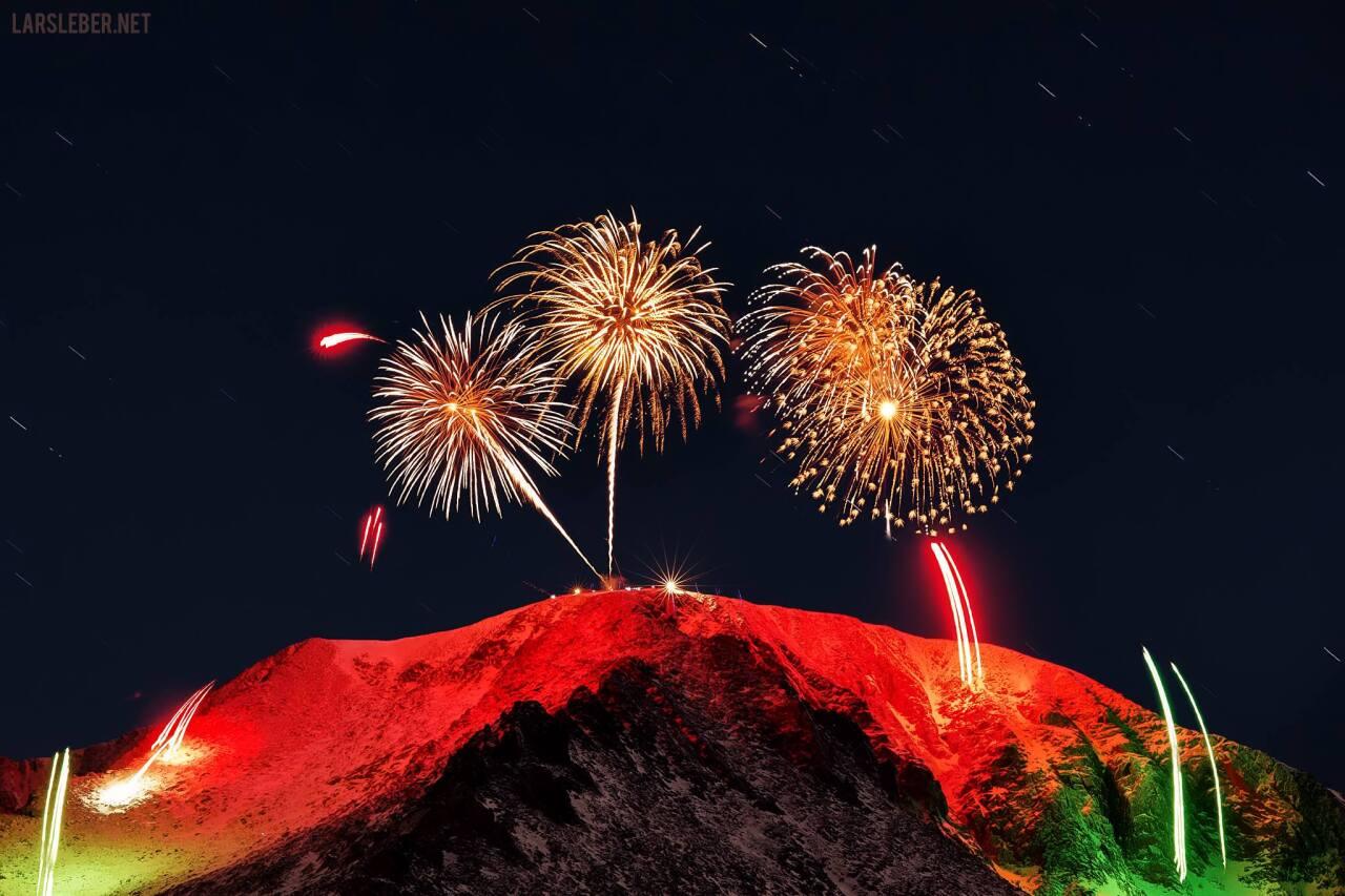 The AdAmAn Club Fireworks show Pikes Peak Summit