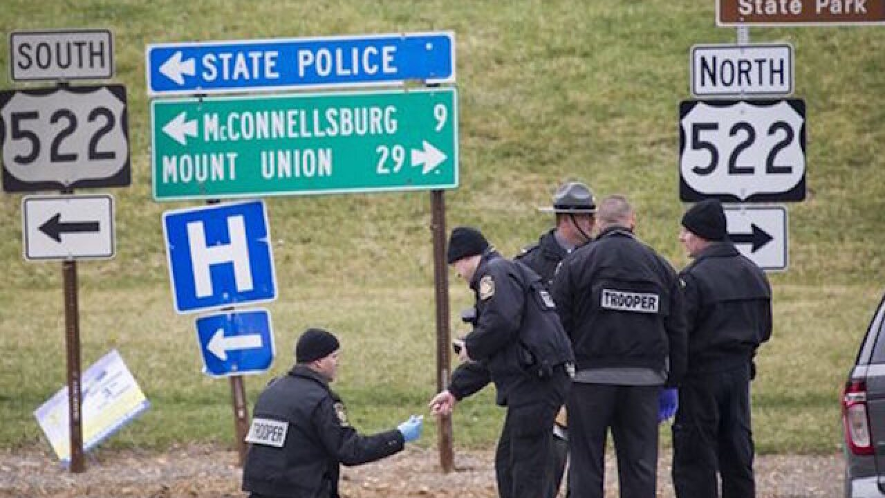 Former trooper kills 2, shot dead in PA
