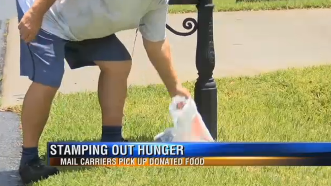 Local mail carriers collect donations for 'Stamp Out Hunger'