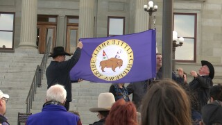 Montana, tribal leaders raise Little Shell flag to celebrate federal recognition