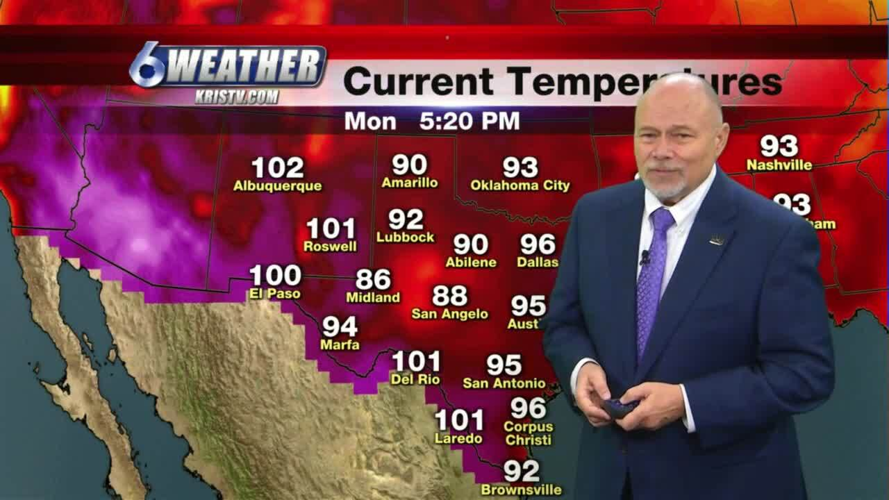 Bill Alexander expects more hot temperatures throughout the week