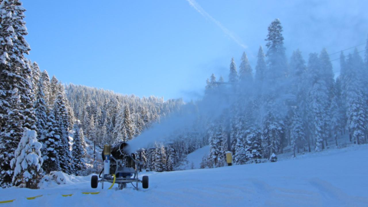Snowmaking underway at Brundage Mountain