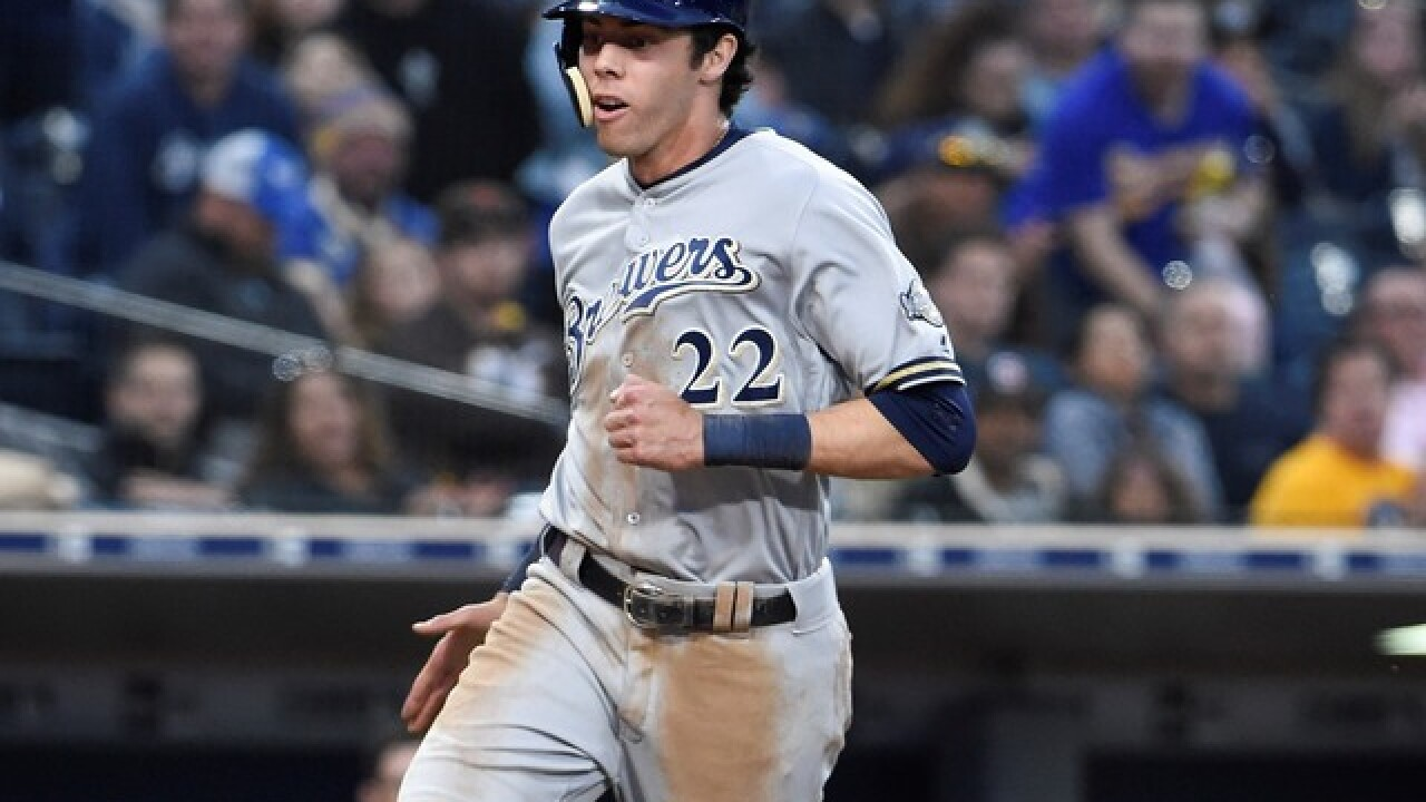 Brewers place Christian Yelich on 10-day disabled list with right oblique injury