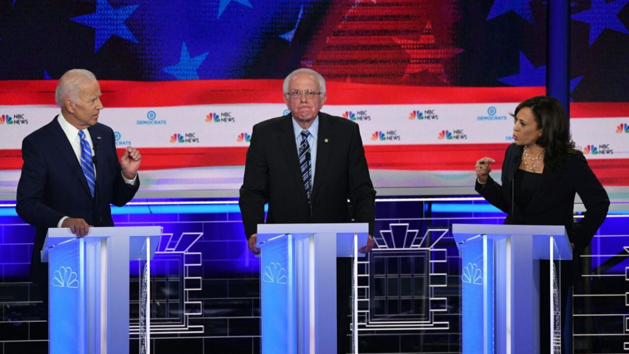 Biden, Harris highlight Wednesday's Democratic Party debate