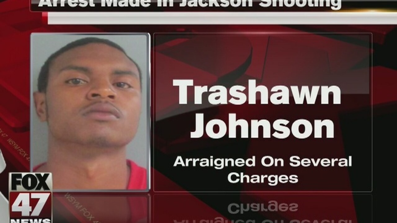 One arrested in Jackson shooting
