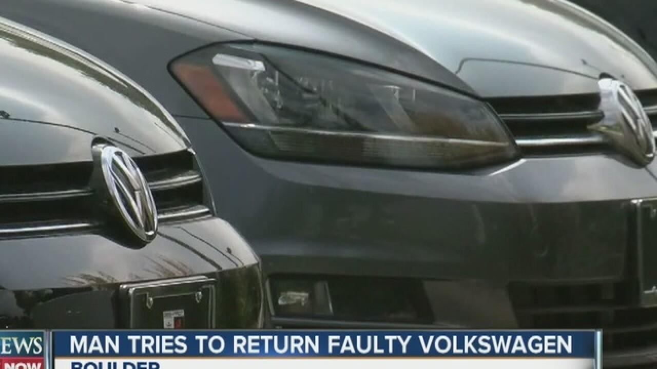 Volkswagen customer asks for full refund