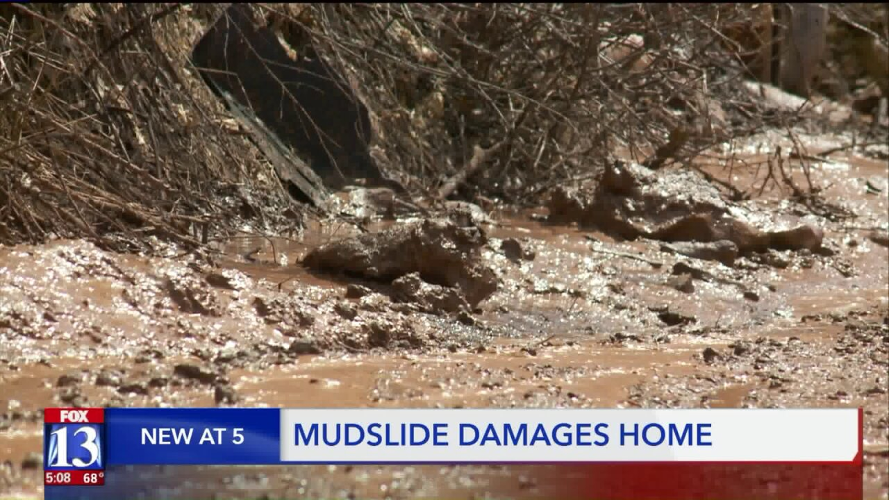 Salt Lake Co. family forced to evacuate after mudslide in PinecrestCanyon