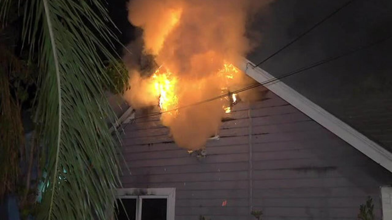 Residents escape Spring Valley house fire