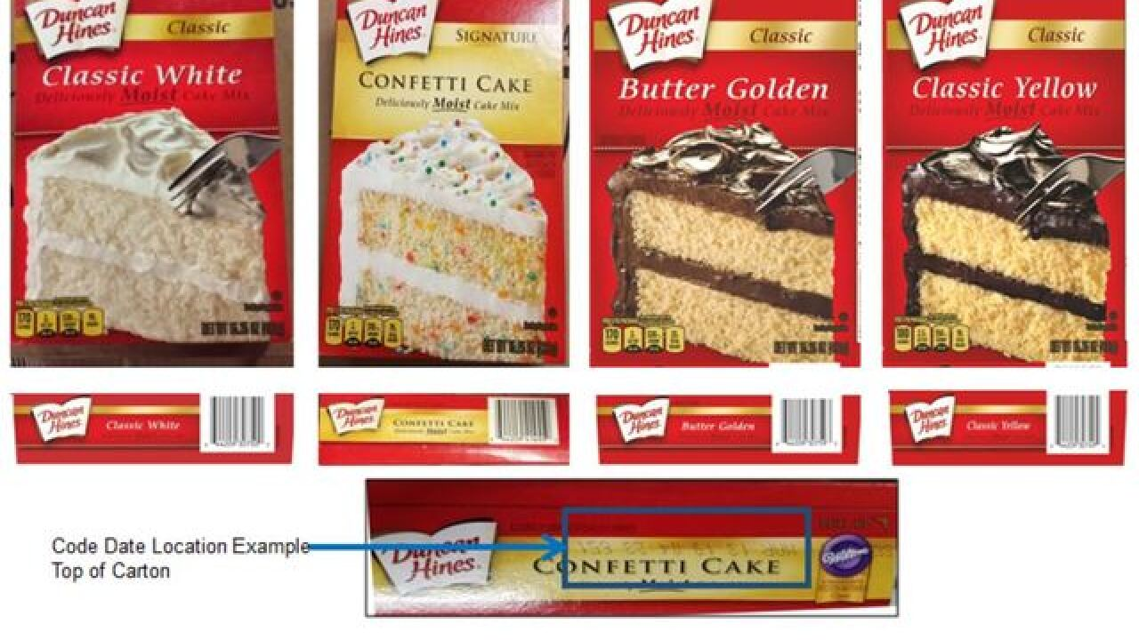Duncan Hines cake mixes recalled for possible salmonella contamination