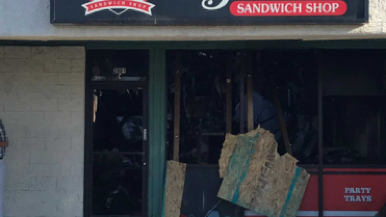 Capriotti's catches fire twice in the same day
