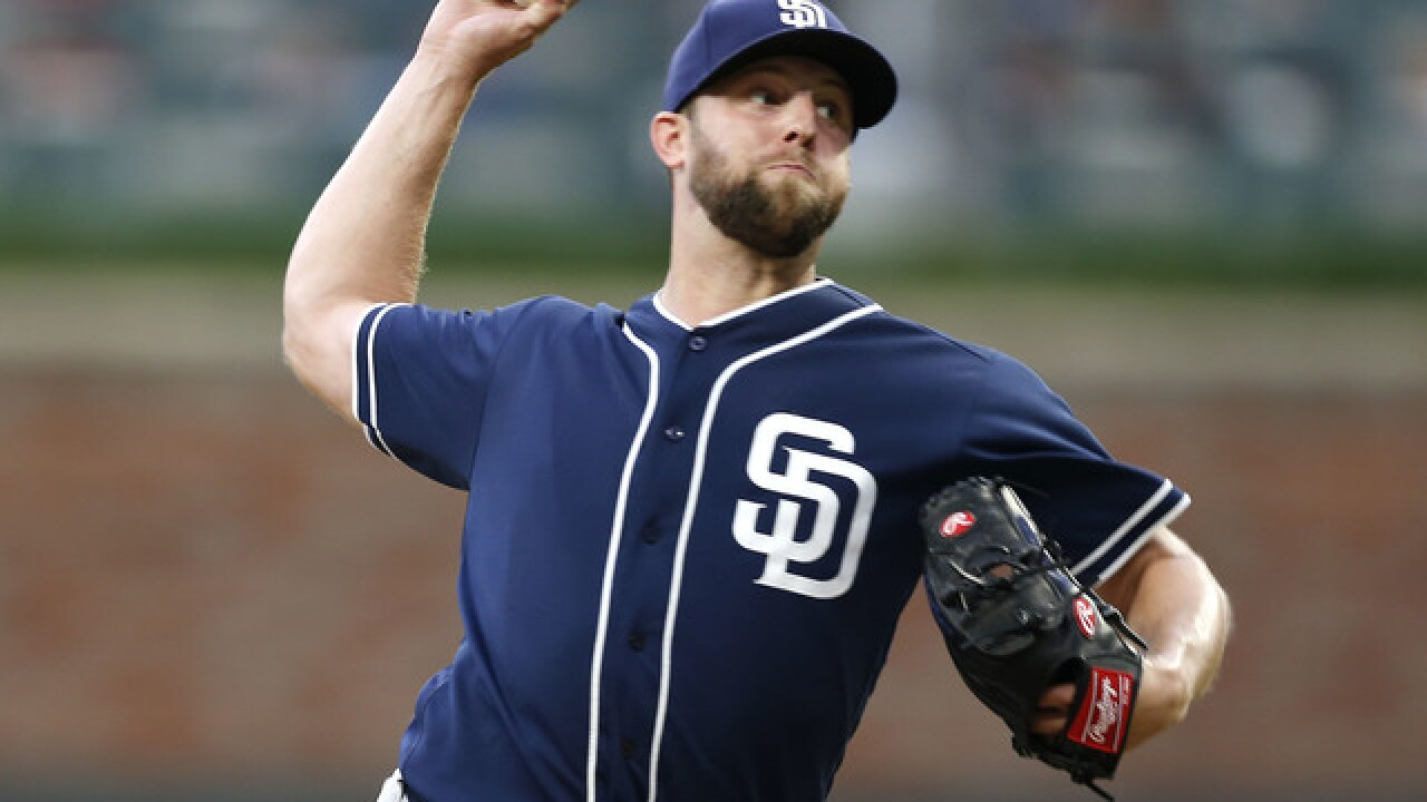 Brewers acquire pitcher Jordan Lyles from Padres