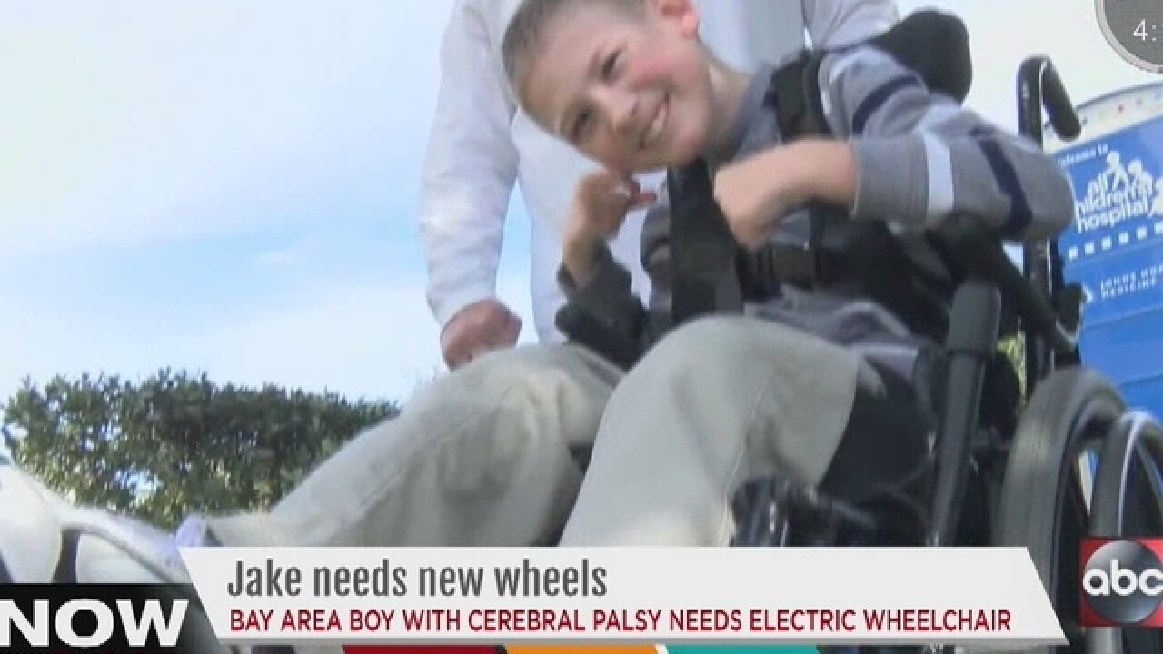Child with CP hoping for electric wheelchair