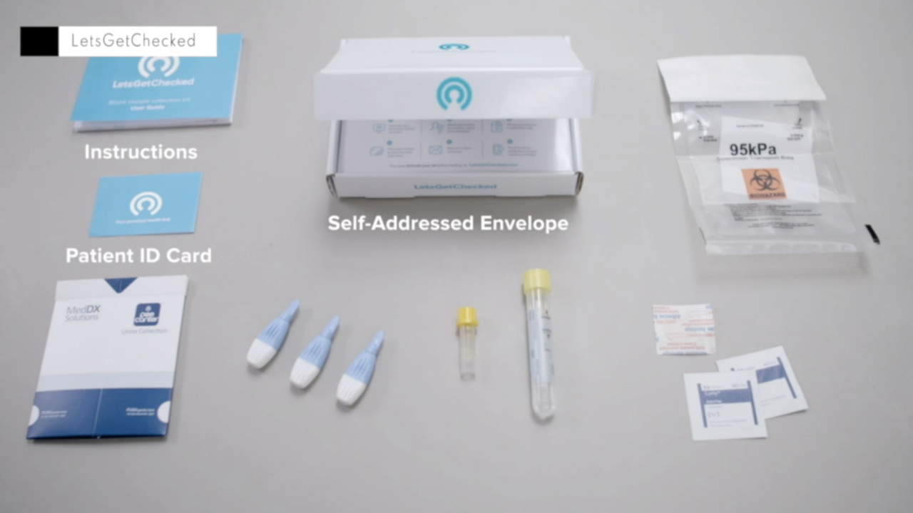 LetsGetChecked at-home testing kits