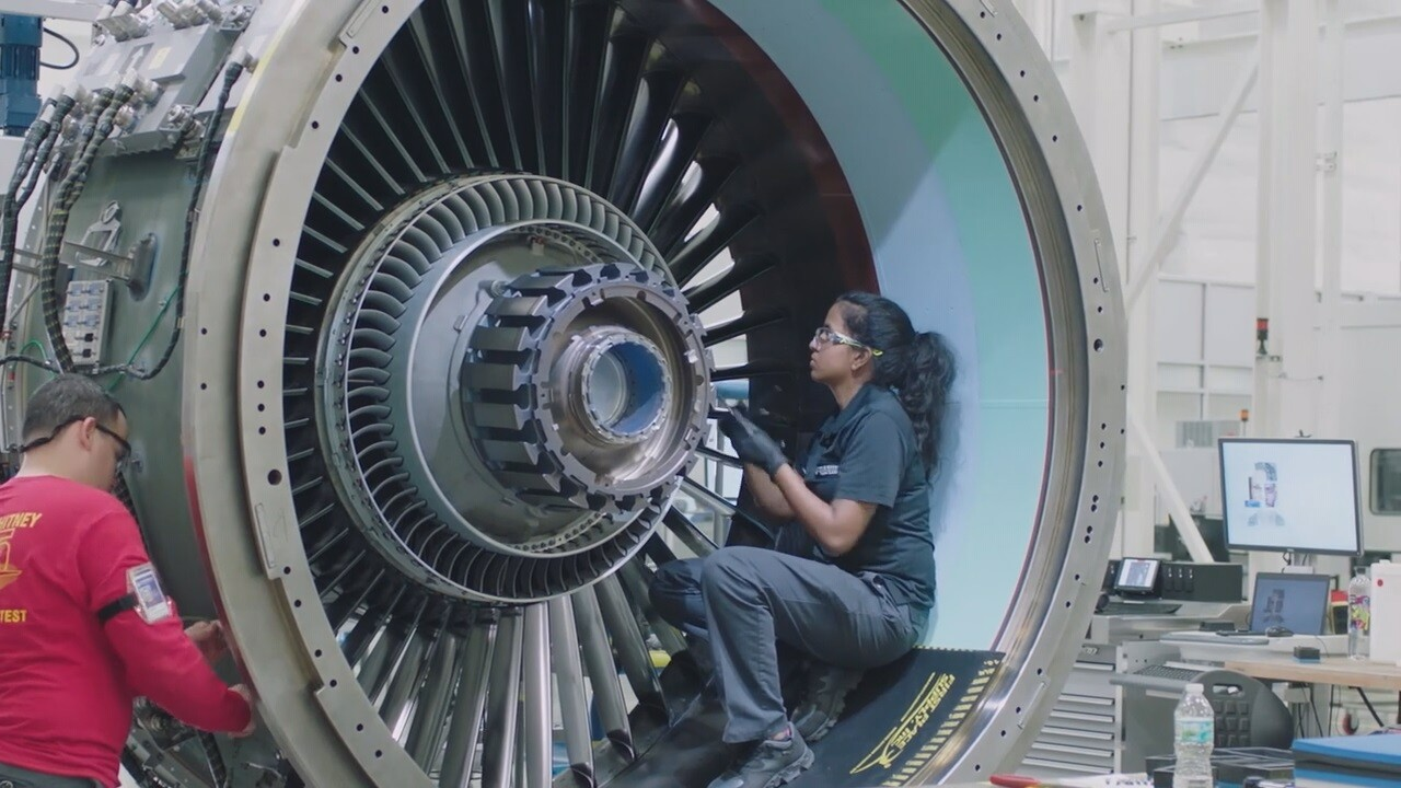 2019-06-10 Raytheon merger-jet engine.jpg