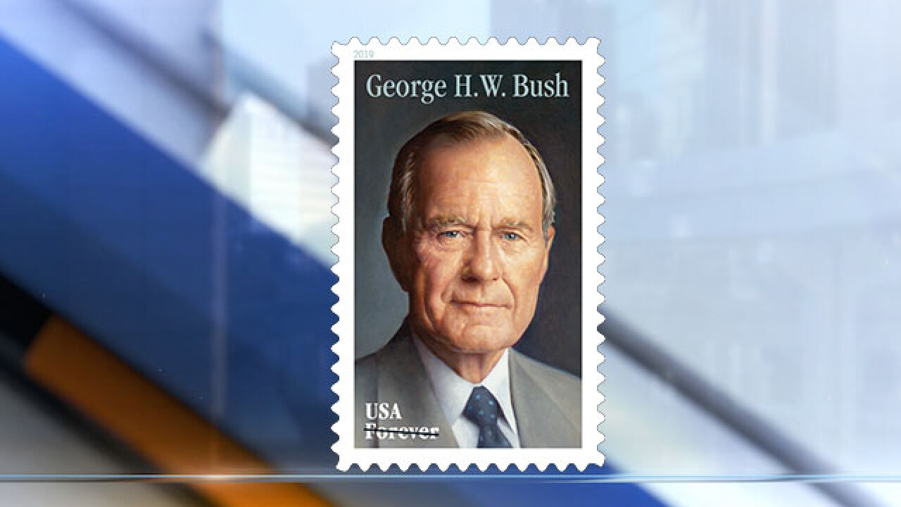 USPS unveils new stamp honoring late President George H.W. Bush