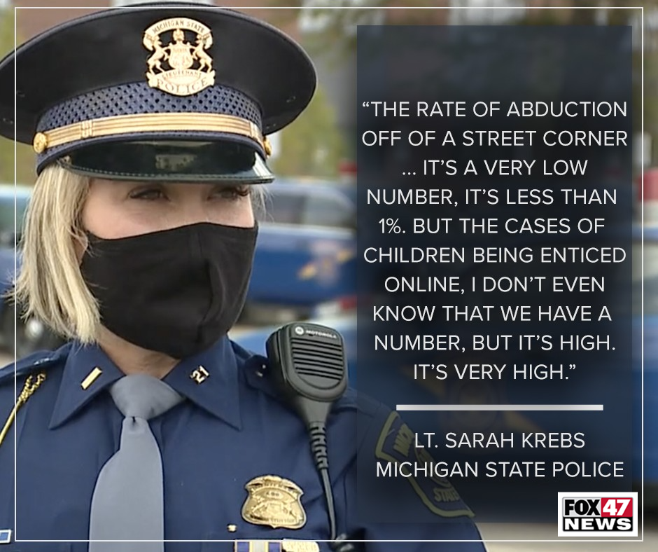 Comments by Lt. Sarah Krebs of the Michigan State Police