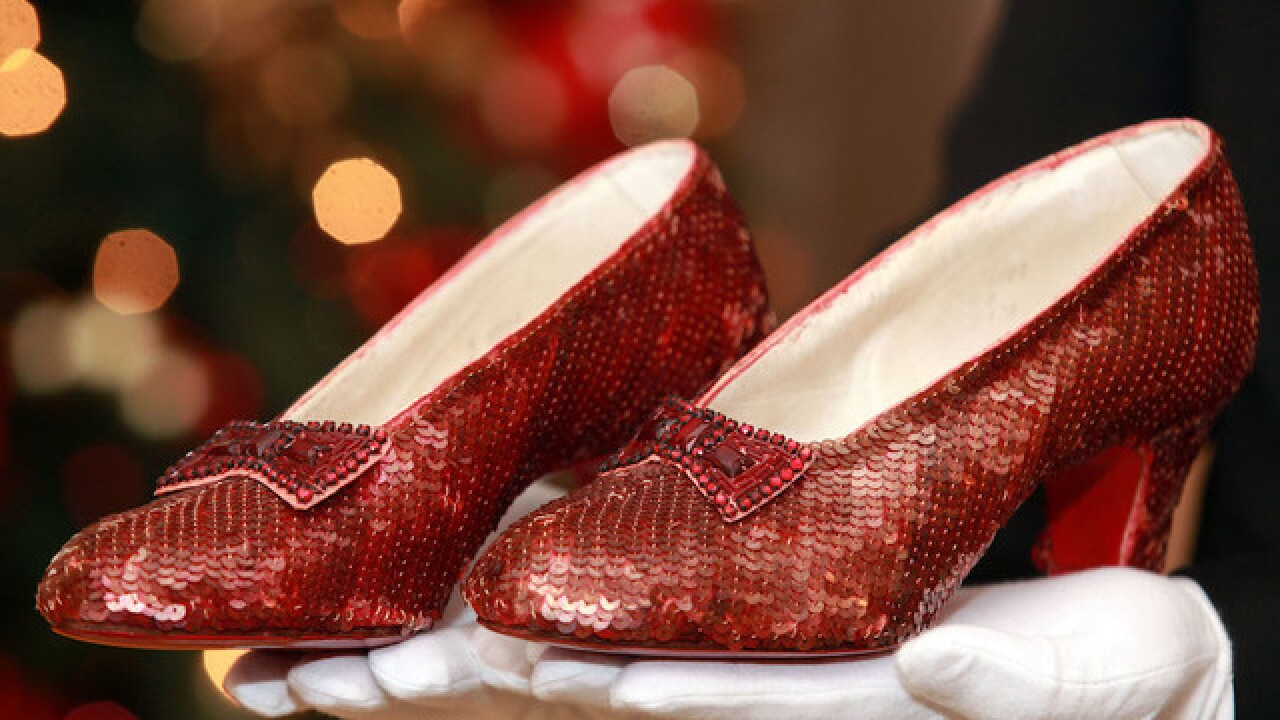 2671fe2dcb5 13 years after they were stolen, Dorothy's ruby slippers have been ...