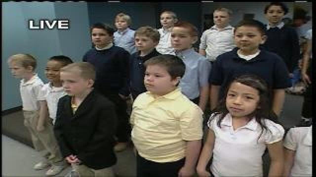 Third graders sing 'Cold and Fugue Season'