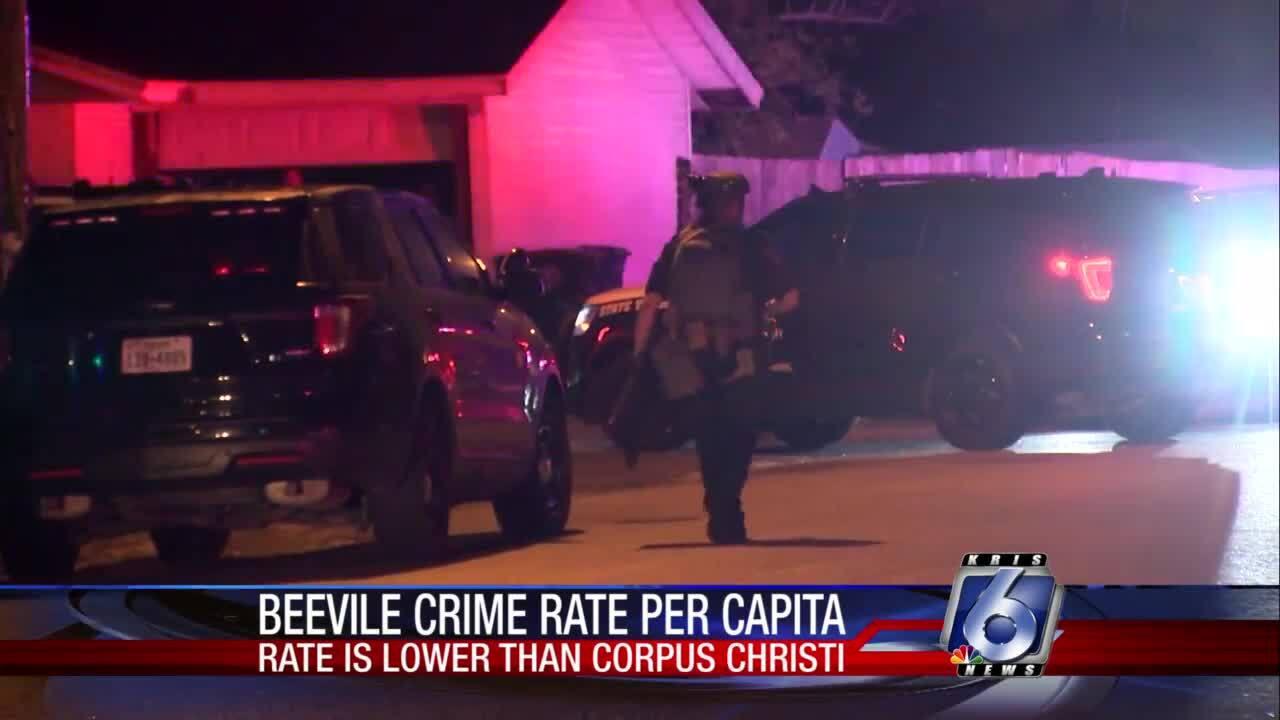 Beeville crime rate lower per capita than Corpus Christi