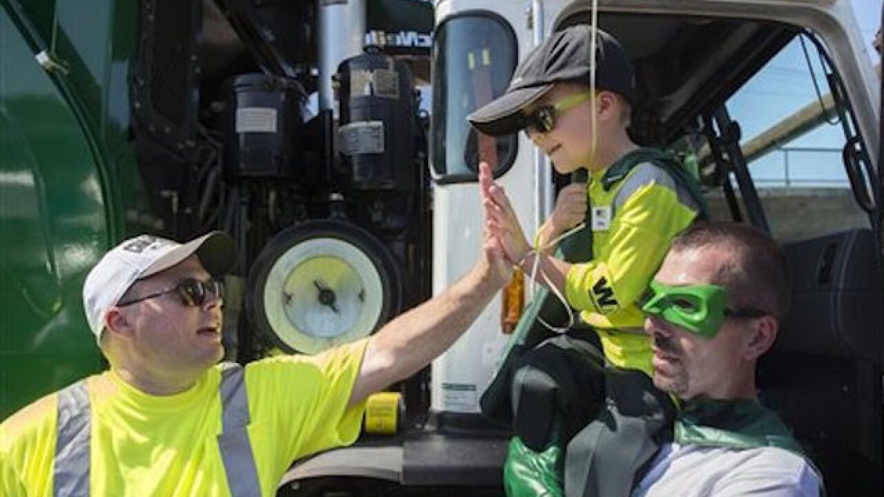 Make-A-Wish foundation grants six-year-old's wish to be a garbage man