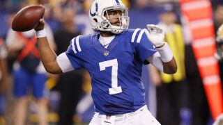 Colts' Jacoby Brissett stays in game despite head injury