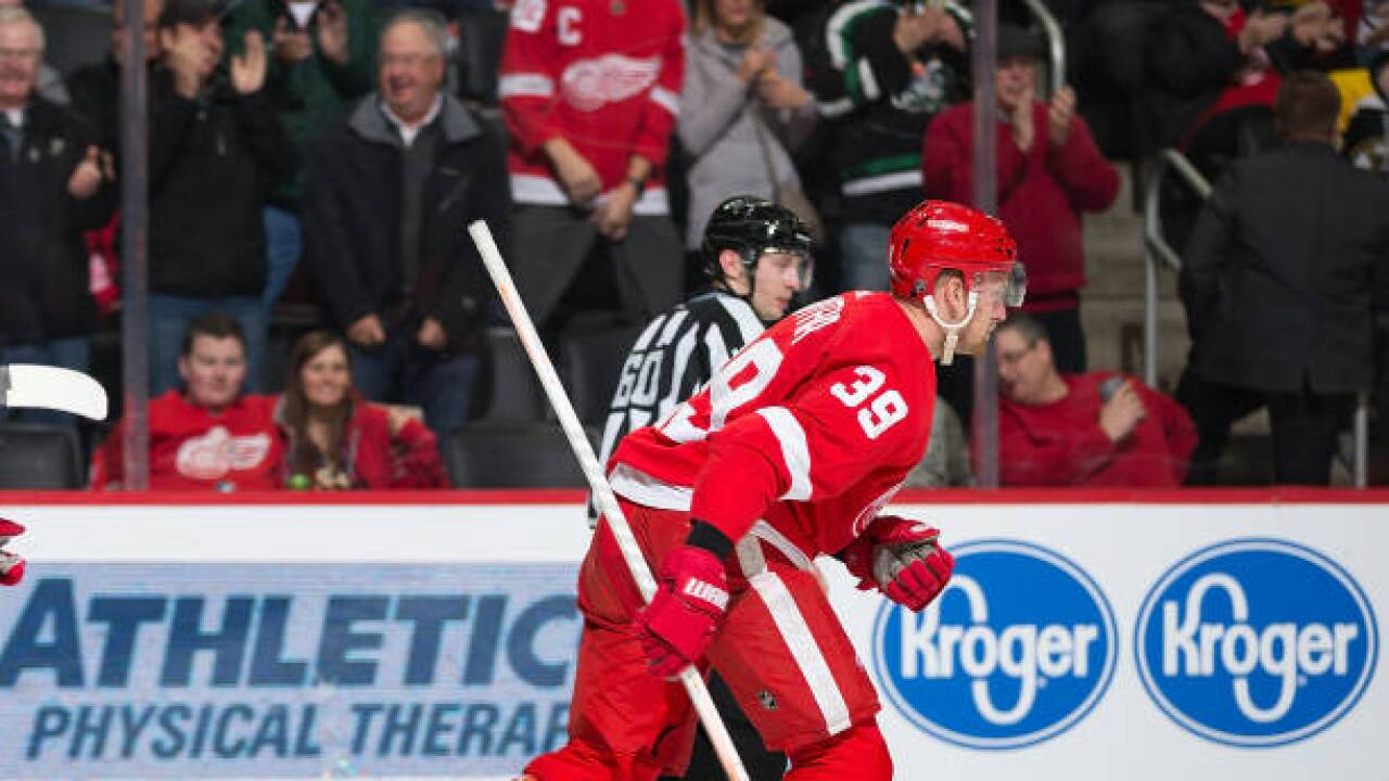 official photos 78458 0162b Anthony Mantha s first NHL hat trick helps Red Wings beat Bruins