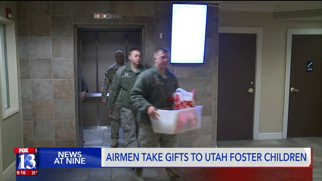 HAFB airmen deliver gifts to Utah foster children