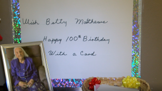 betty matthews 100th birthday