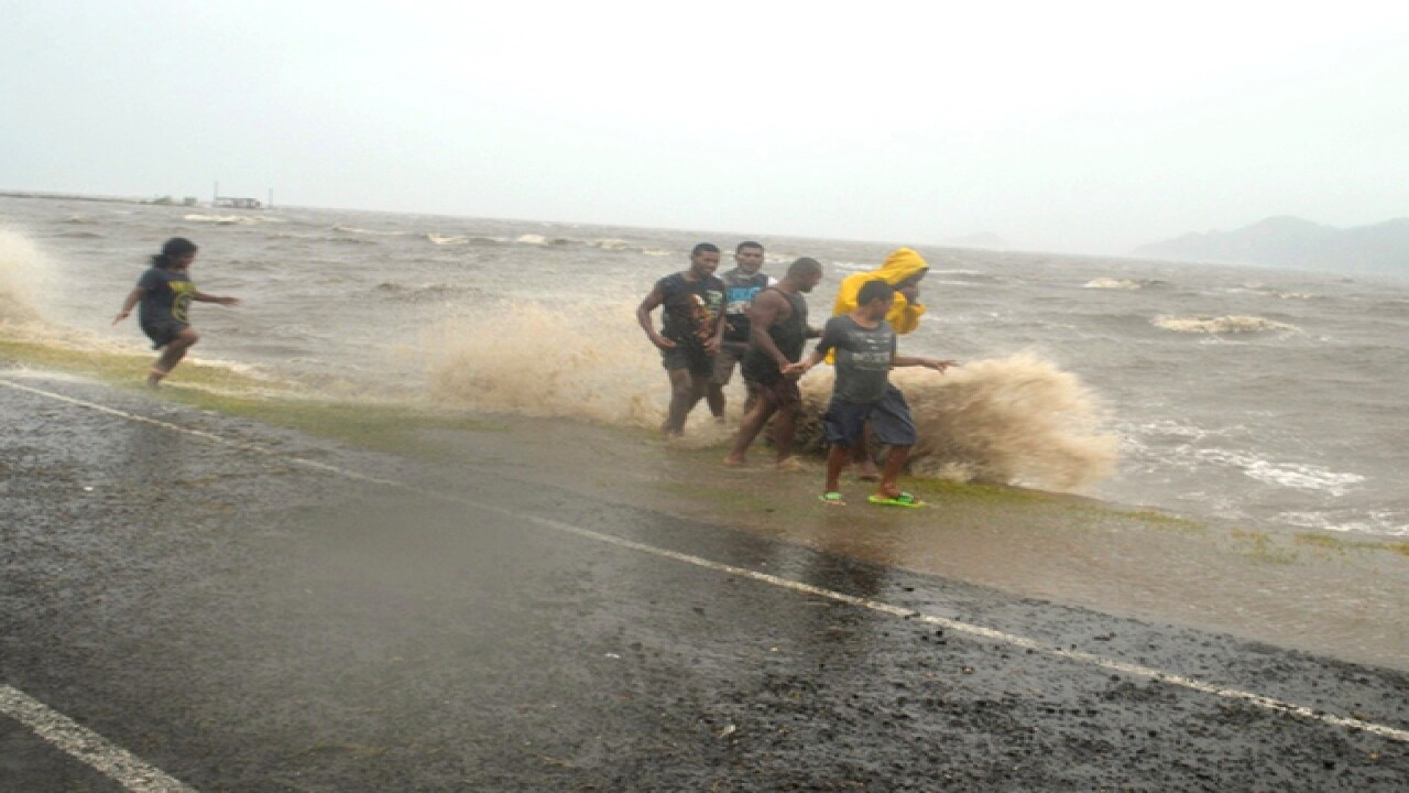 Cyclone strikes Pacific island nation of Fiji