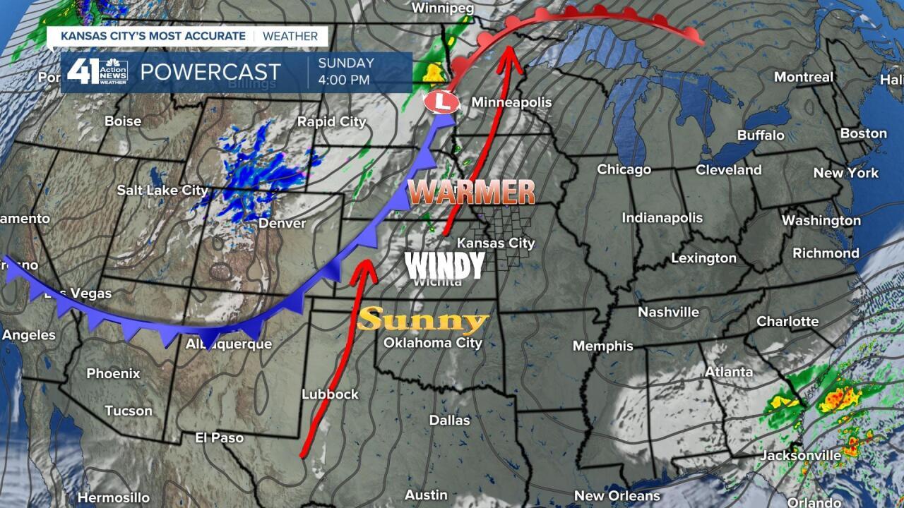 Surface Forecast Valid Sunday