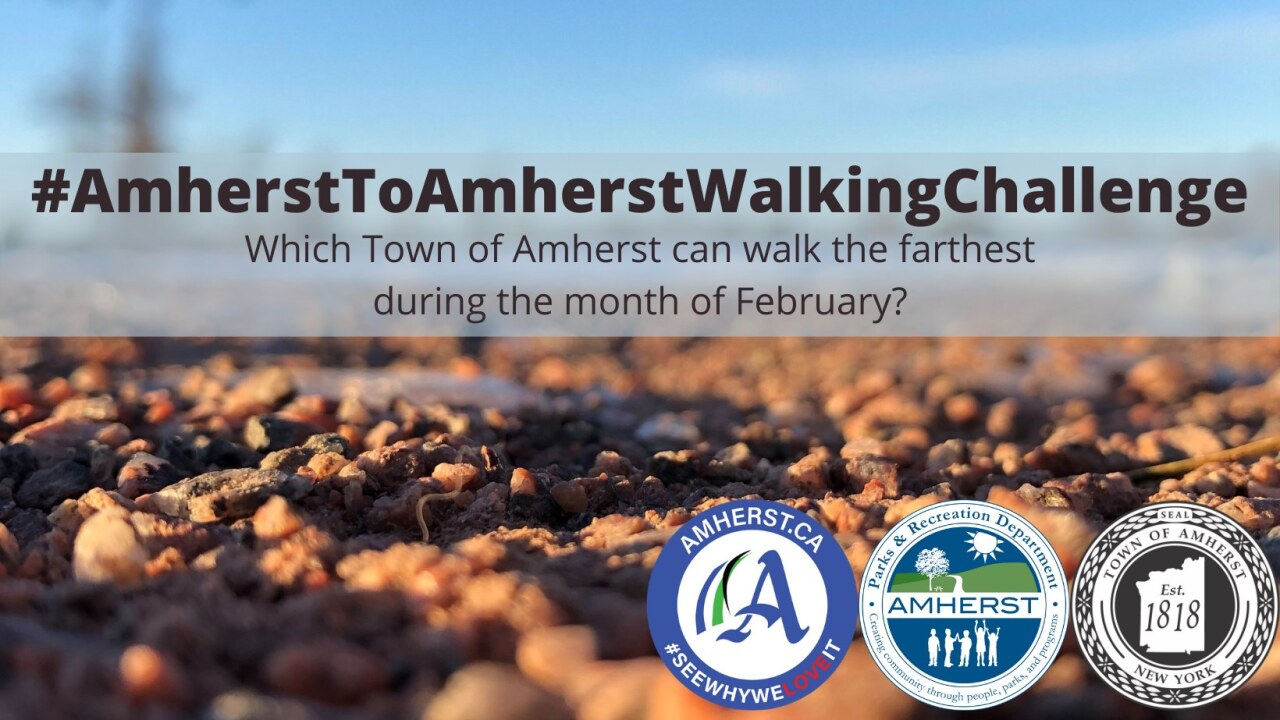 The Amherst to Amherst walking challenge starts Feb. 1