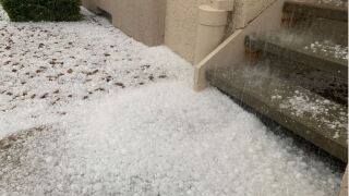 Hail in southwest Colorado Springs