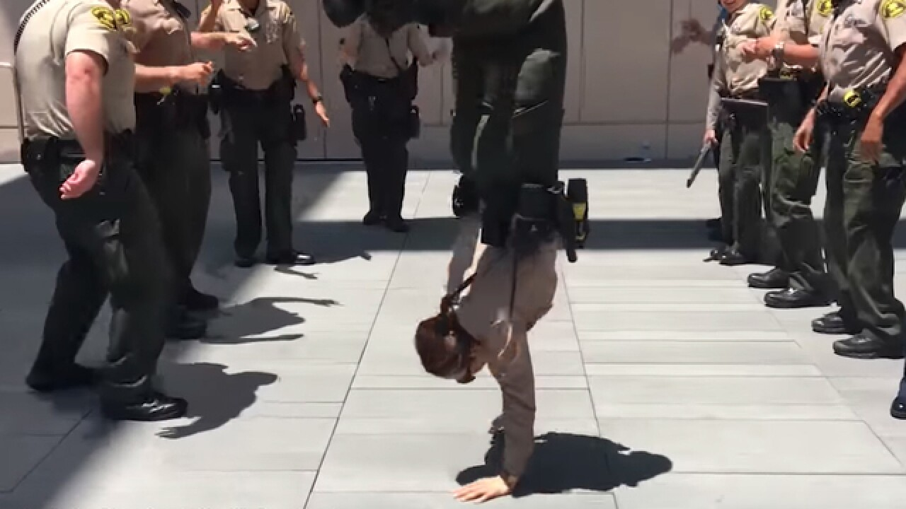 San Diego Sheriff's deputies answer 'lip sync challenge' call