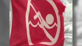 WPTV no swimming flag