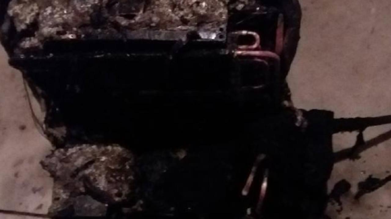 Dehumidifier set fire in Fillmore