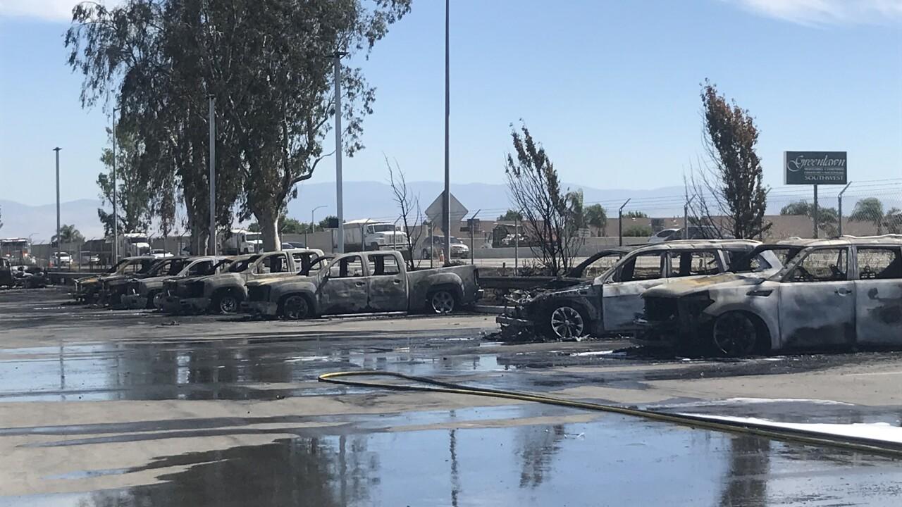 CarMax Fire in Bakersfield Destroys 85 Cars