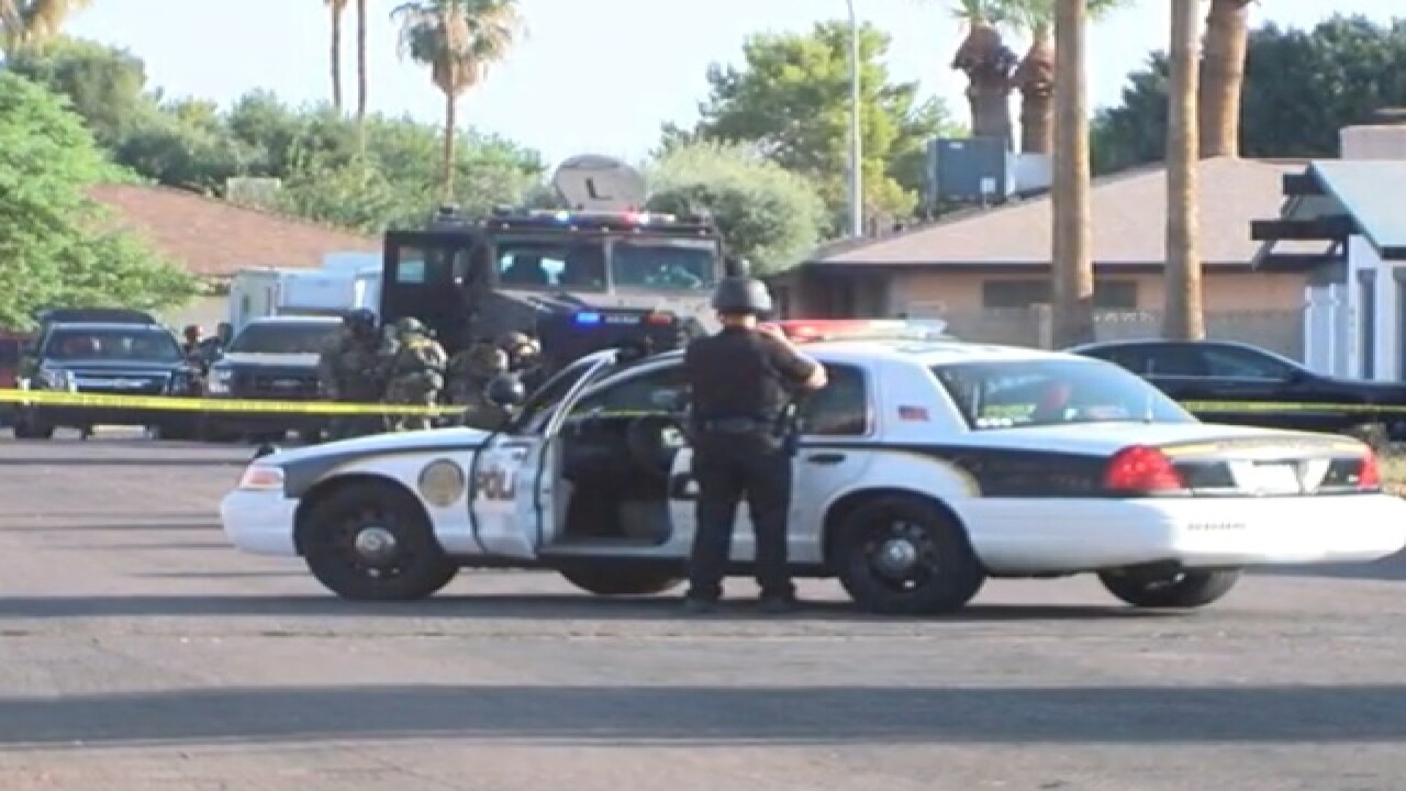 Person barricades self inside Scottsdale home