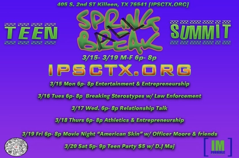 IMpossiable Teen Center Spring Break Events