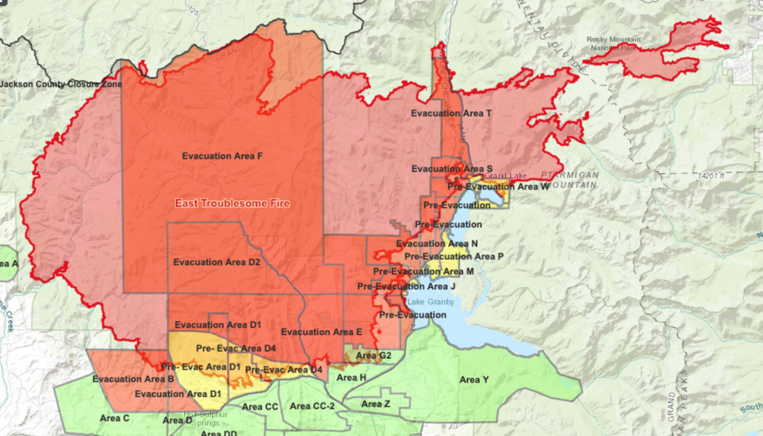 East Troublesome Fire_evacuation map Oct 29 2020