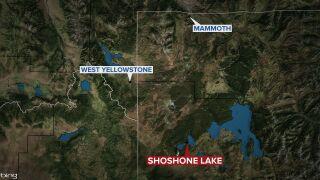 Shoshone Lake in Yellowstone National Park