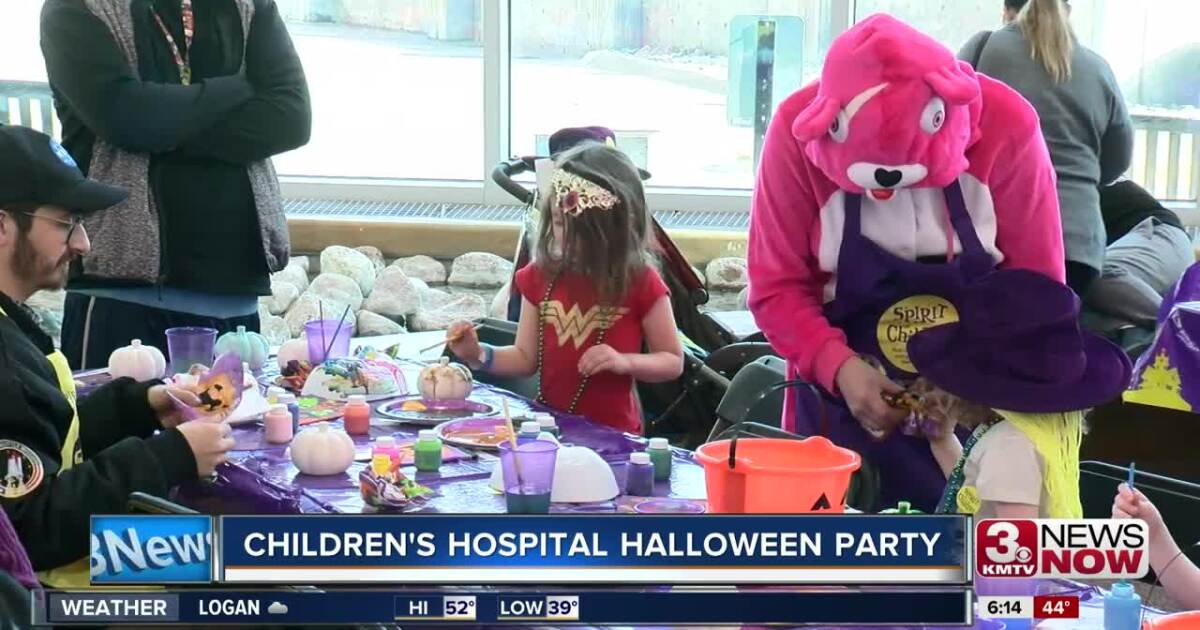 Halloween party at Children's Hospital