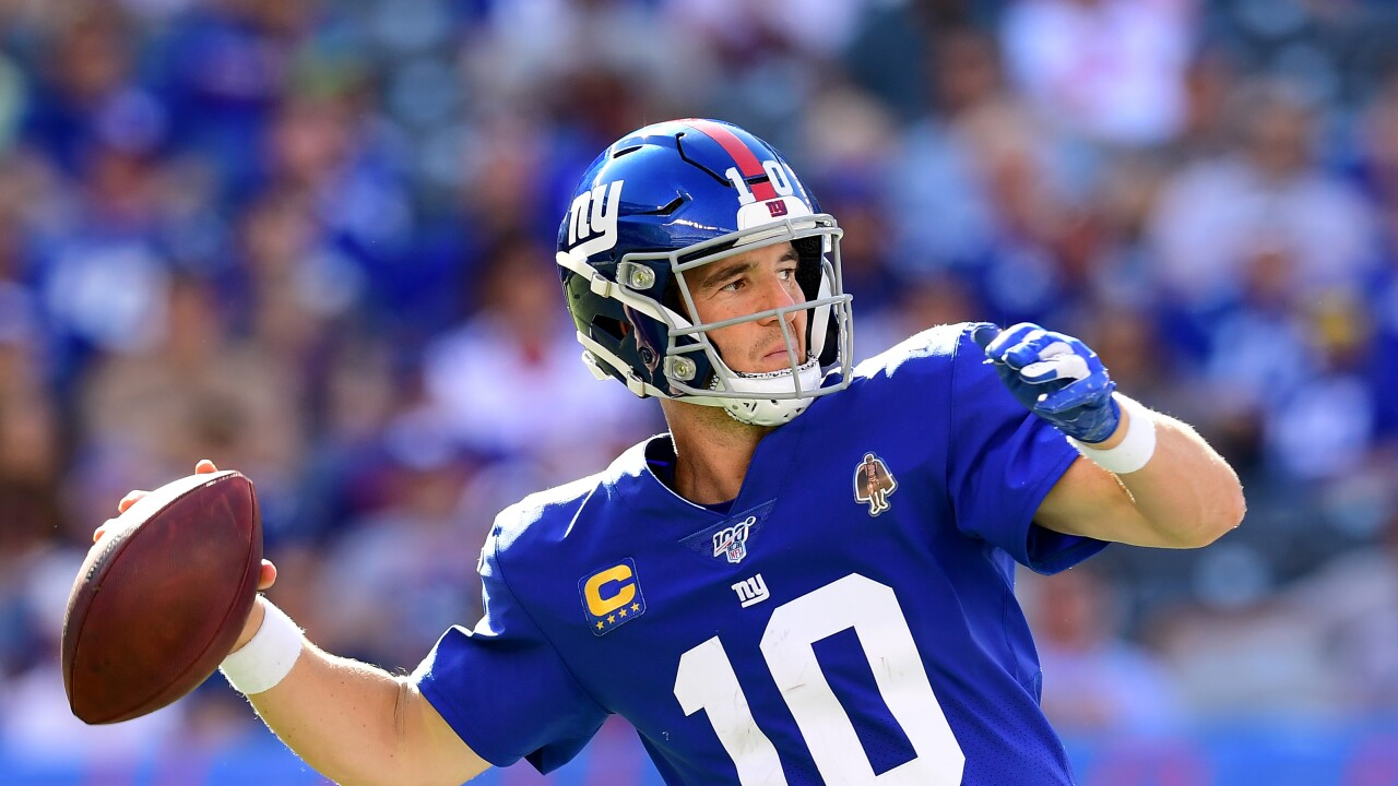 New York Giants bench longtime quarterback Eli Manning in favor of rookie Daniel Jones